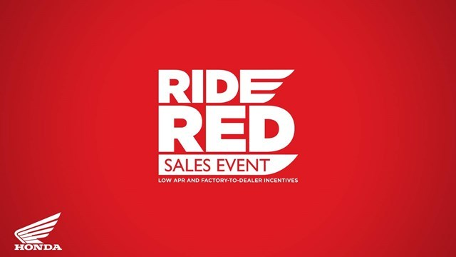 Honda Ride Red Sales Event - Low APR and Factory-To-Dealer Incentives